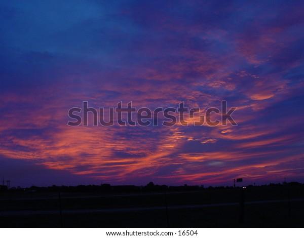 Pre sunrise glow