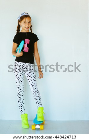 075e8dd53 Pre Teen Girl Wearing Cool Fashion Stock Photo (Edit Now) 448424713 ...