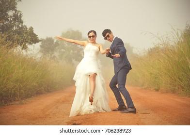 pre wedding photo of asian couple