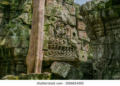 Preah Khan carving detail