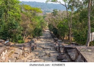 preah vihear temple stair