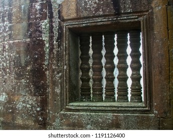 Preah Vihear Temple, view of ancient stone window , the Hindu temple reign of Khmer Empire, Preah Vihear province, Cambodia.