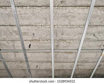 precast concrete and aluminium construction to make floor and ceiling