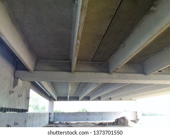 A precast concrete parking garage under costruction. Shown in this picture are precast concrete pieces and how they compose a garage.