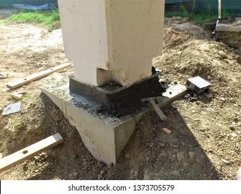 A precast concrete parking garage under construction with precast concrete members shown