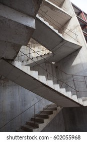Precast concrete staircase. Flight of stairs