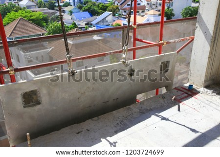 Precast Concrete Wall Hang Wait Installation Stock Photo Edit Now