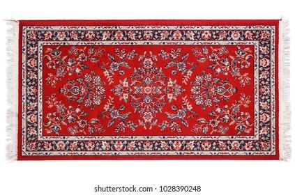 a precious persian carpet on white background