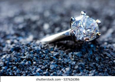 A precious ring with a polished gemstone