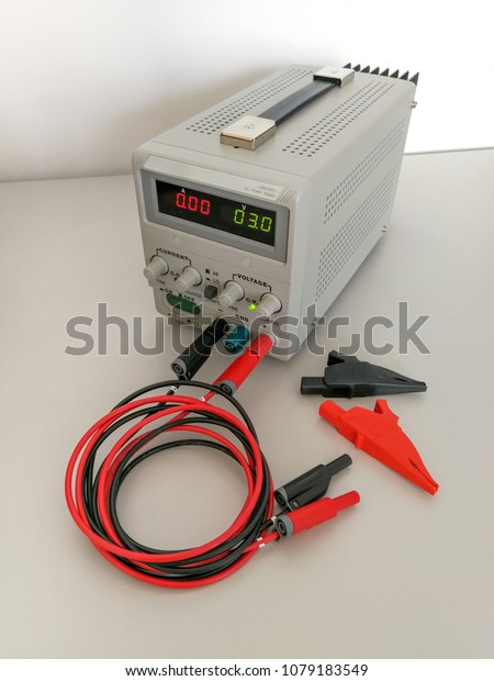 Precise Variable Voltage Current Power Supply Stock Photo