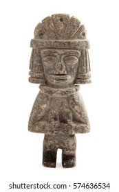 Pre-Columbian stone figure from Colombian ancient indigenous