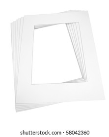 Pre-cut matboards for framing art isolated on white