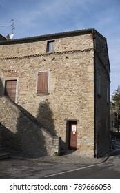 Predappio, Italy - December 22, 2017 : Benito Mussolini birthplace