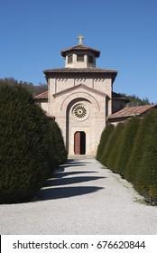 Predappio, Italy - February 21, 2016 : Benito  Mussolini memorial