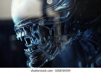 Predator Alien vs. Predator. In the Museum of Film Legends in Prague 30.3.2018.