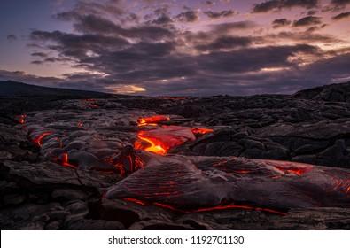 Predawn Lava Flow