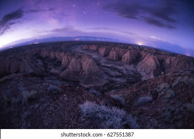 Predawn in Zhabyr Canyon (Yellow canyon) in National park Charyn,  KazakhstanNOTE: Low resolution and noise because a night shot with high ISO.