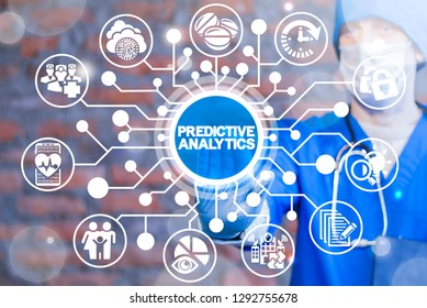 Predictive analytics health care and medical technology. Medicine prediction analysis data concept.