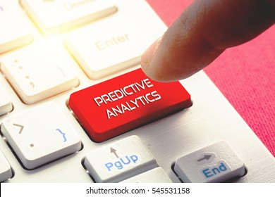 PREDICTIVE ANALYTICS word concept button on keyboard