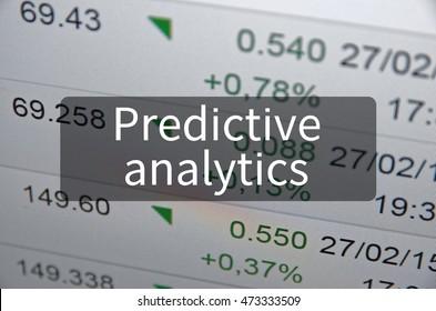 Predictive analytics written on translucent black space.