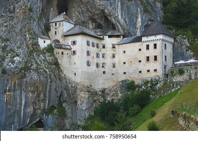 Predjama Castle, built into cave opening in Slovenia.