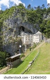 Predjama Castle in rock in Slovenia
