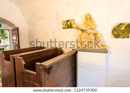 Predjama Slovenia 22072018 Interior Medieval Predjama Stock Photo