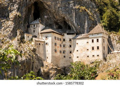 Predjama, Slovenia. The Predjamski Grad or Predjama Castle, a Renaissance fortress near Postojna in the mouth of a cave