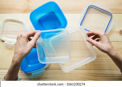 Preform for transportation and storage in plastic containers. Pie in a plastic container.
