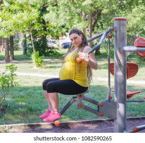 Pregnant Female Exercise Outdoors