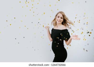 Pregnant Woman with Confetti