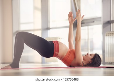 pregnant woman gym yoga exercise
