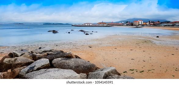 Preguntoiro beach in Vilaxoan, Vilagarcia de Arousa town