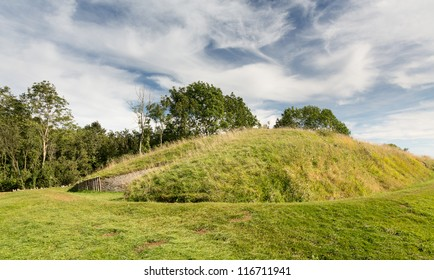 Prehistoric barrow known as Belas Nap on Cleeve Hill in Gloucestershire