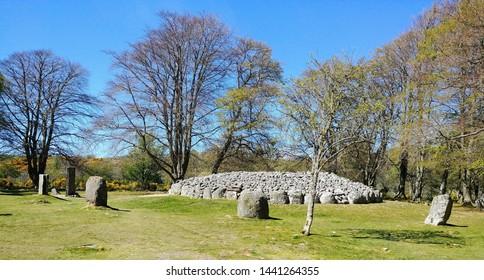 Prehistoric Burial Cairns of Bulnuaran of Clava near Inverness Scotland