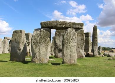 Prehistoric monument of Stonehenge. England.