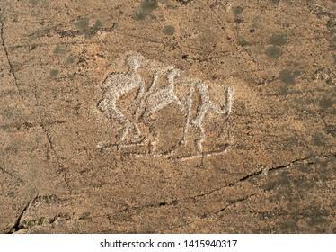 Prehistoric Petroglyphs - Rock Art - Zalavruga, Belomorsk, Karelia, Russia