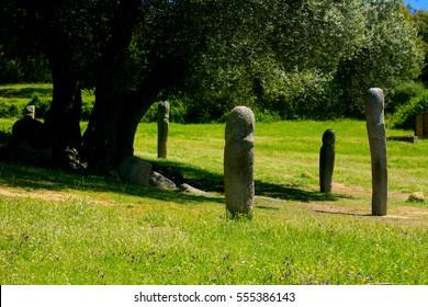 Prehistoric site of Filitosa, Corsica island, France