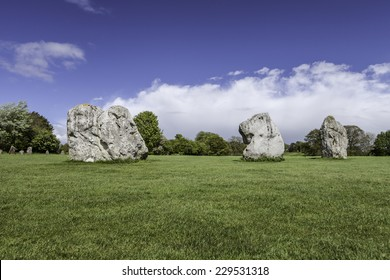 Prehistoric Standing Stones at Avebury in Wiltshire England