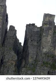 Preikestolen pulpit. Lysefjord fiord. Norway