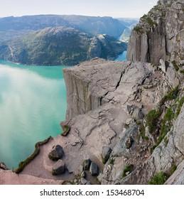 Preikestolen or Pulpit rock (Norway)