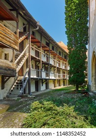 Prejmer, Brasov / Romania - August 06 2014: Hive dwellings, fortified church in Prejmer, Romania