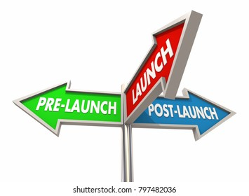 Pre-Launch Post Launch Signs Before After New Business 3d Illustration
