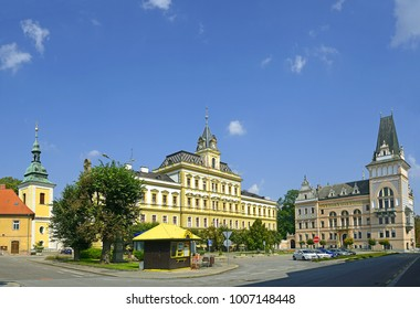 PRELOUC, CZECH REPUBLIC - SEPTEMBER 7: The main square on September 7, 2014. Prelouc is one of the oldest historically documented places in the Pardubice region.