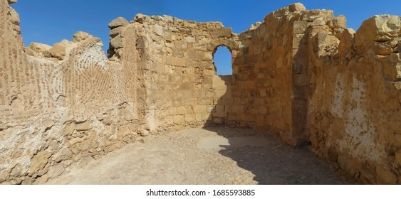 The premises of ancient warriors on Mount Masada
