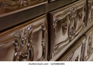 Premium classic handmade furniture, carved elements. Barocco, rococo, vintage style.
