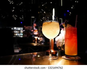 Premium mocktail in high class pub and restaurant