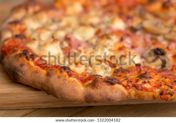Premium pizza on a plate