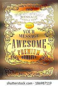 Premium Quality, Guarantee  typography design an be used for invitation, congratulation or website