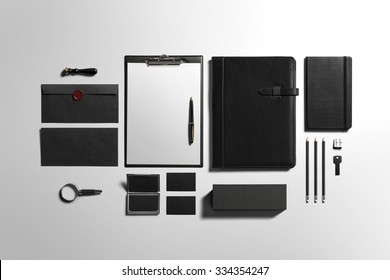 Premium Stationery, Branding Mock-up, with clipping path, isolated, changeable background